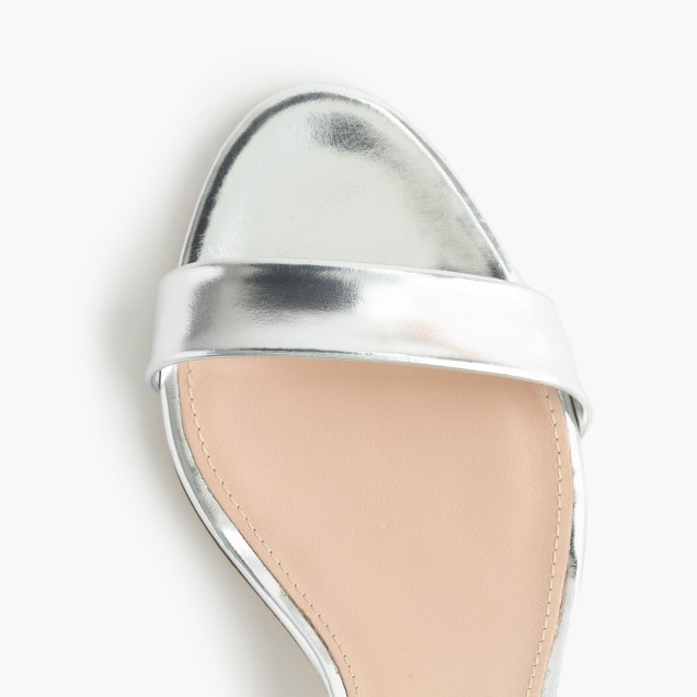 Mirror metallic kitten-heel sandals