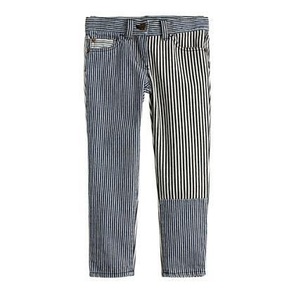 Girls' toothpick jean in railroad stripe