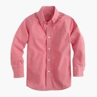 Boys' secret wash shirt in red mini-gingham