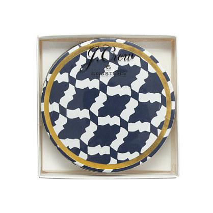 Moroccan tile coasters