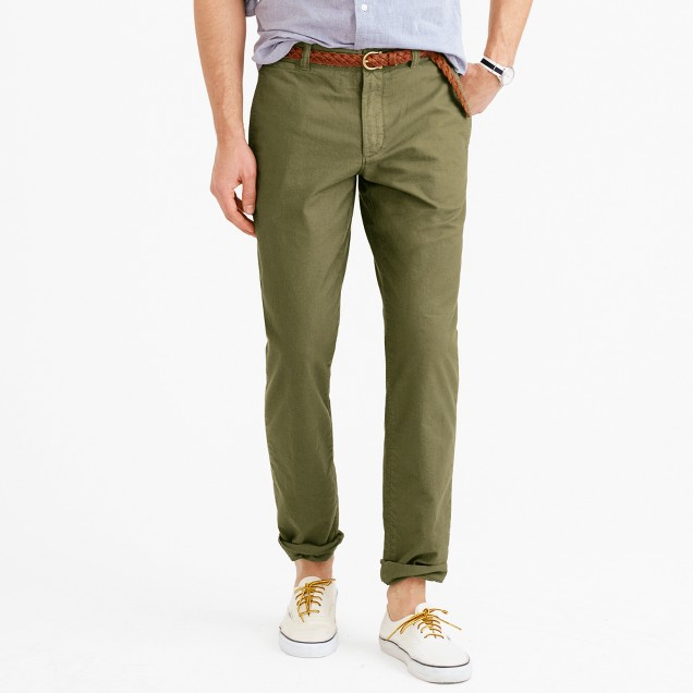 Garment-dyed oxford cloth chino in 770 straight fit