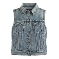 Denim vest in patina wash