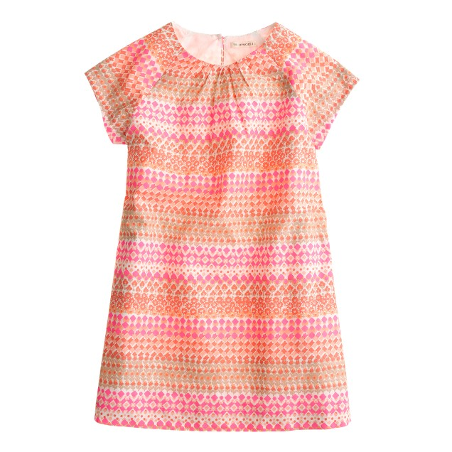 Girls' Short-sleeve dress in geometric floral