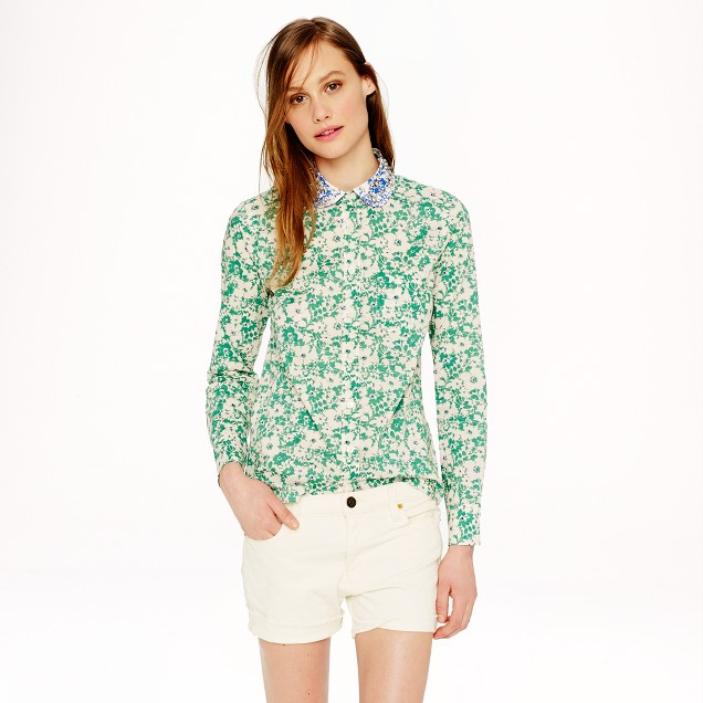 Jeweled-collar shirt in Liberty Jody floral