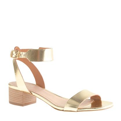 Evie metallic midheel sandals