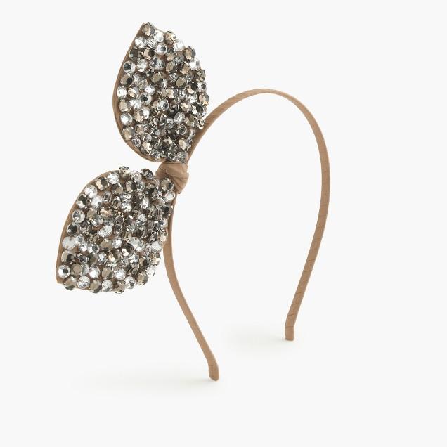 Girls' jeweled bow headband