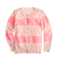 Girls' Caroline cardigan in wide stripe