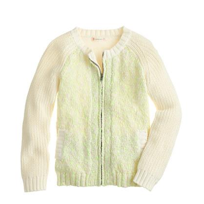 Girls' knit sweater-jacket