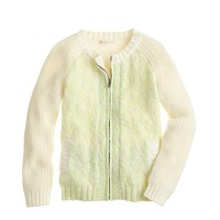 Girls' knit sweater-jacket