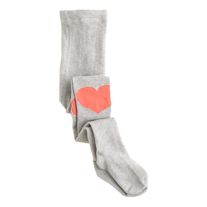 Girls' knee-heart tights