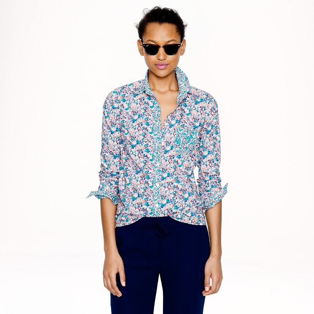 Liberty boy shirt in mixed floral