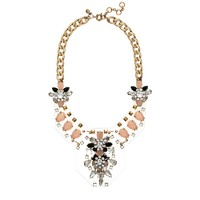 Jeweled plates necklace