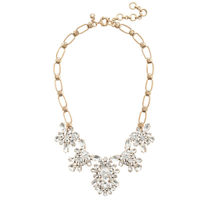 Crystal blooms necklace