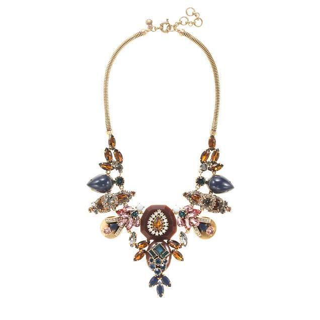 Gem collage necklace