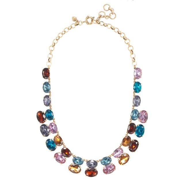 Gem stack necklace