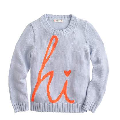 Girls' hi sweater
