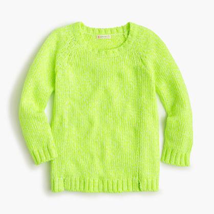 Girls' marled popover sweater