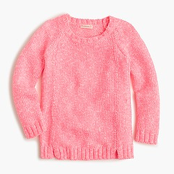 Girls' marled popover sweater