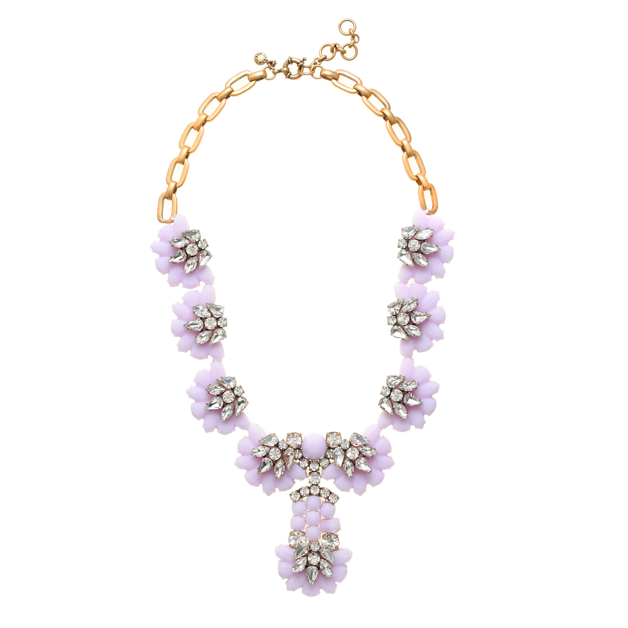 Crystal color flower necklace
