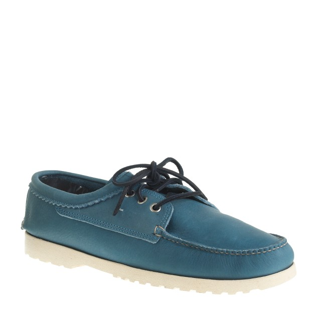 Men's Quoddy® for J.Crew leather bluchers in Parisian blue