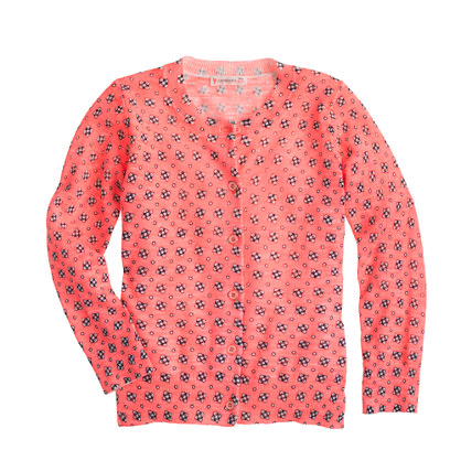 Girls' Caroline cardigan in floral dot