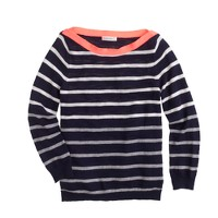 Girls' stripe boatneck sweater