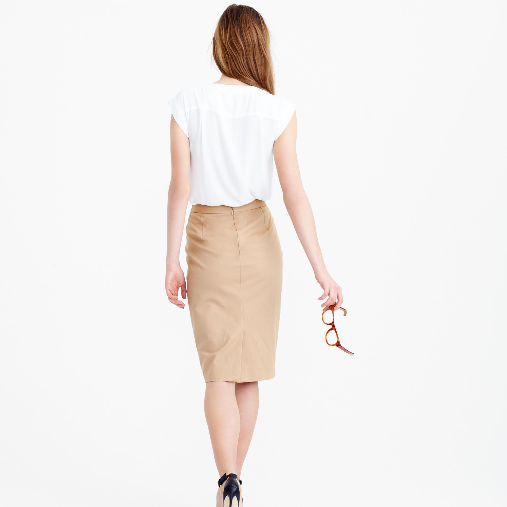 Pencil Skirt In Stretch Cotton : Women's Suiting | J.Crew