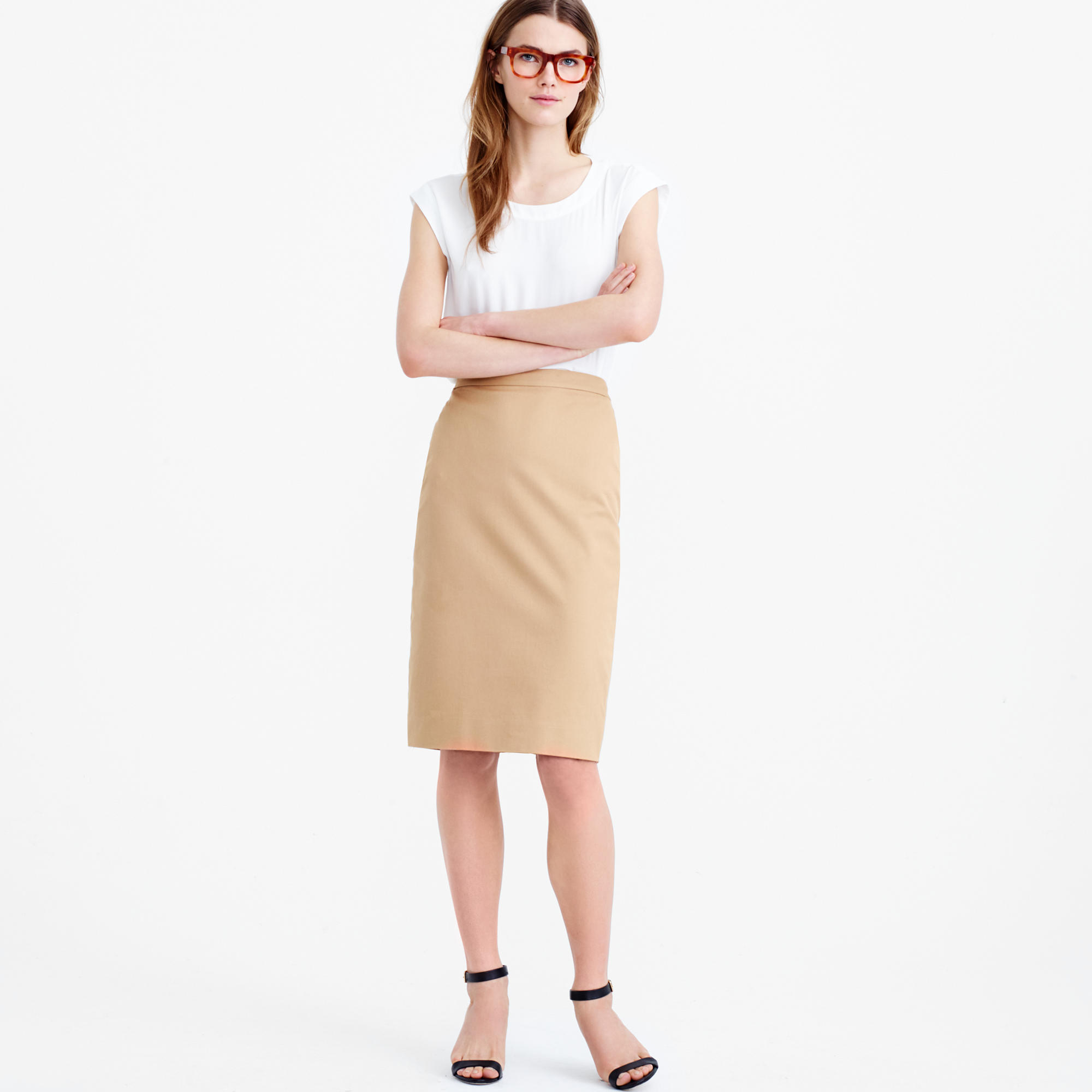 Petite Pencil Skirt In Stretch Cotton : Women's Suiting | J.Crew