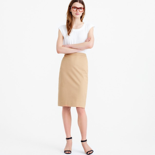 Pencil skirt in stretch cotton