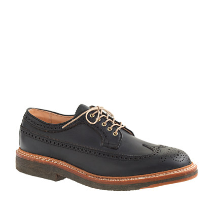 Alden® for J.Crew longwing bluchers in navy Horween Chromexcel leather