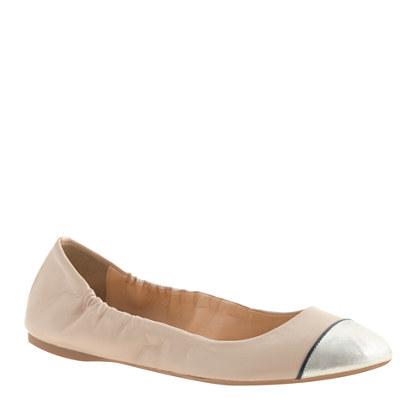 Emma cap toe ballet flats
