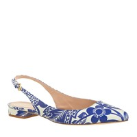 Lucie printed leather slingback flats