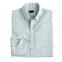 Secret Wash shirt in stone blue gingham