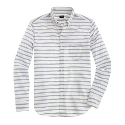 Slim lightweight shirt in deep ocean stripe