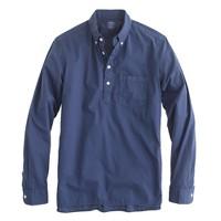 Lightweight popover in garment-dye