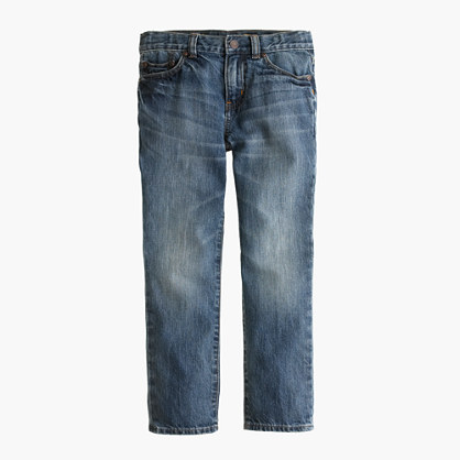 Boys' slim jean in well worn wash