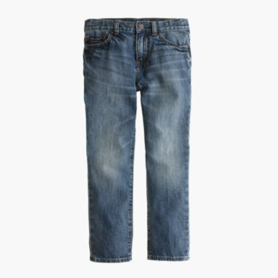Boys' well-worn wash jean in slim fit