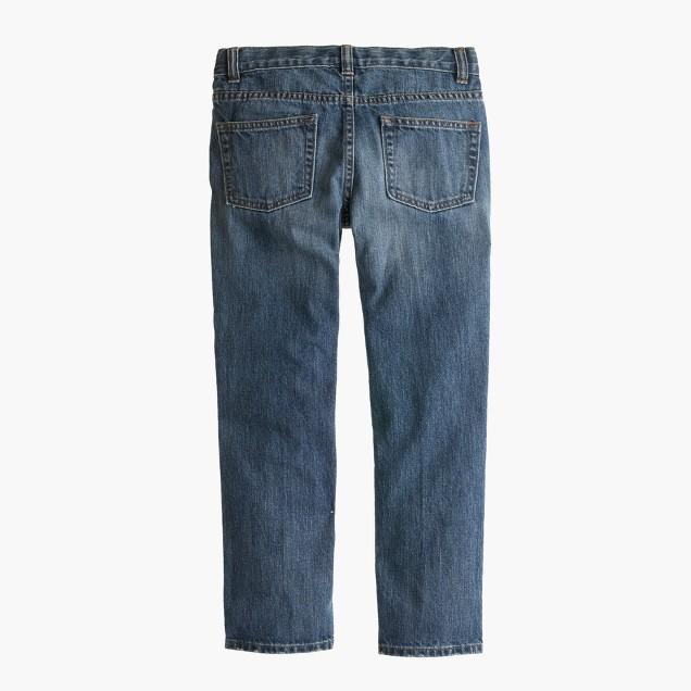 Boys' well-worn wash jean in slim fit