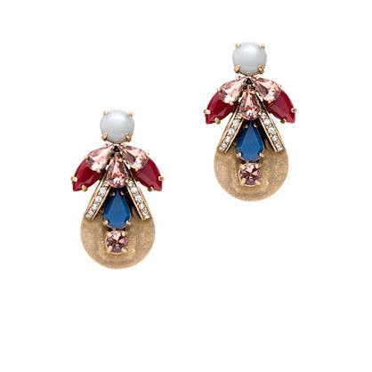Stacked jewel earrings