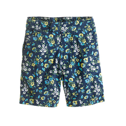 Boys' tab swim short in haven blue floral