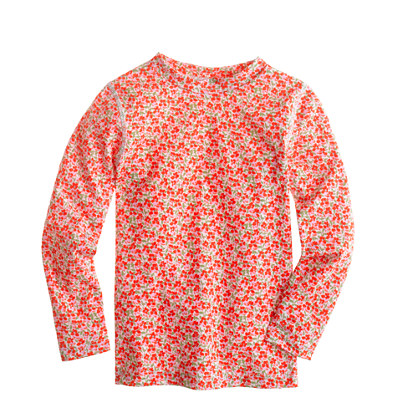Girls' rash guard in multicolor floral