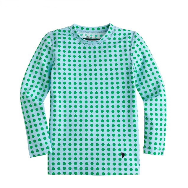 Girls' rash guard in optic dot