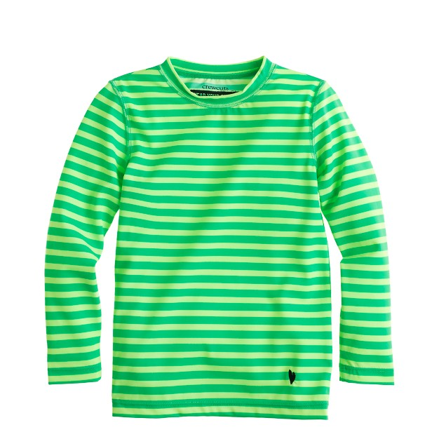 Girls' rash guard in thin stripe