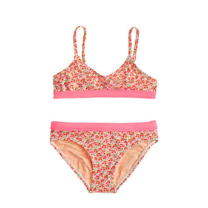Girls' bikini set in flowerpatch print