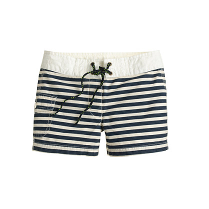 Girls' board short in stripe