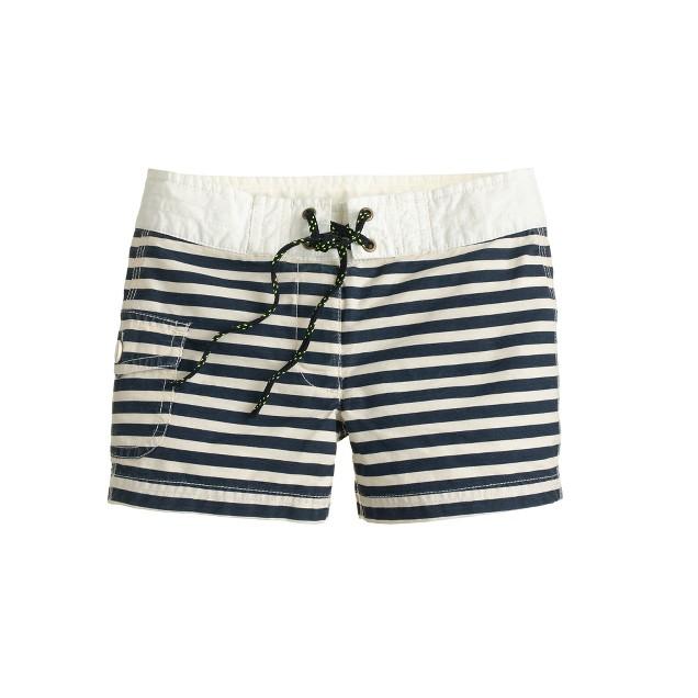 Girls' board short in stripe