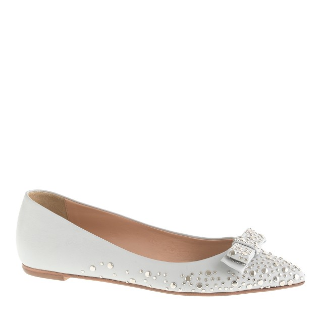 Collection Viv studded bow flats