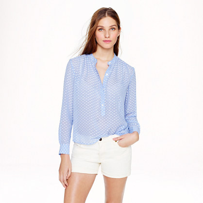 Silk dash-dot blouse