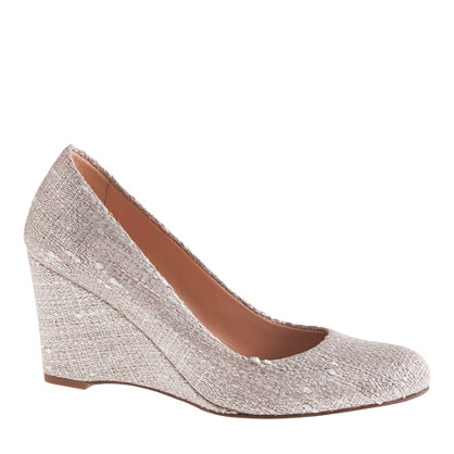 Martina shimmer linen wedges