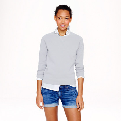 Crepe cotton sweatshirt